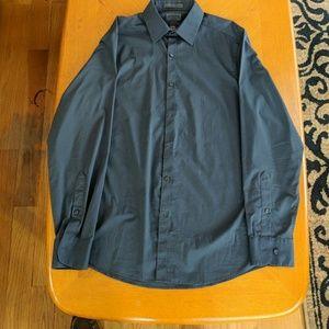 Mens Arrow Slim Fit Dress Shirt in Slate Gray